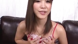 brunette japanese lingerie small-tits little mammy masturbation solo toys