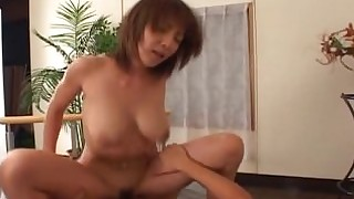 babe big-tits brunette big-cock couple cumshot hairy hot huge-cock