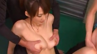 handjob brunette threesome toys vagina masturbation uncensored japanese