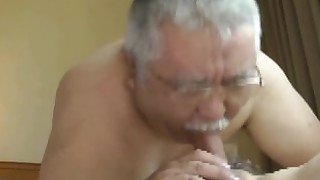 japanese daddy double-penetration granny