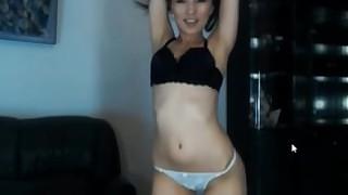 bikini brunette japanese model solo striptease tease webcam