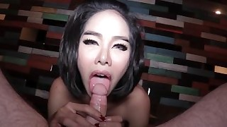 thailand pussy pretty ladyboy girlfriend dress creampie big-tits
