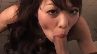 hardcore japanese mouthful pov bathroom sucking brunette cumshot facials