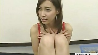 vibrator japanese lingerie playing striptease