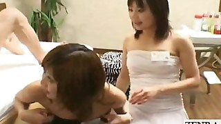 threesome party japanese blowjob