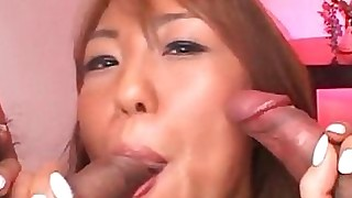 blowjob hairy hooker sucking threesome wet